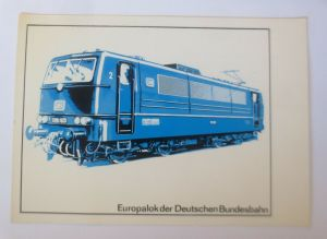 Eisenbahn Europalok der Deutschen Bundesbahn  1965 ♥ (57811)