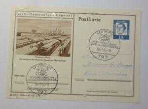 Bildpostkarte Ganzsache Hannover Messe Moderne Privatbahnhof 1964 ♥ (57791)