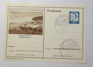 Bildpostkarte Ganzsache Deutsche Luftfahrtschau Flughafen Hannover 1964♥(57790)