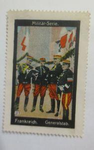 Vignetten Militär-Serie Frankreich Generalstab1910 ♥ (49081)