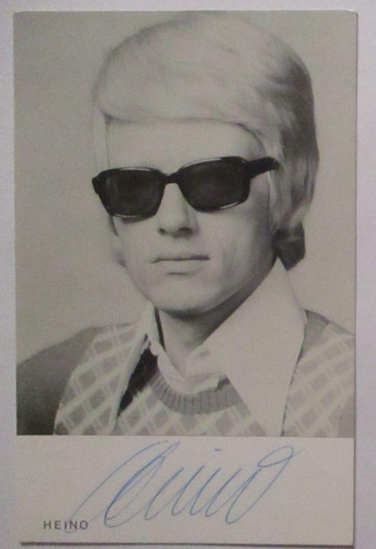 Heino, original Autogramm auf EMI Electra Autogrammkarte (7566)