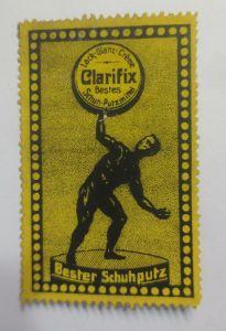 Reklamemarken  Clarifix Schuh Putzmittel 1900   ♥   (21155)