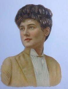 Oblaten,  Frauen, Mode,  13 cm x 10,5 cm  1900 ♥ (61147)
