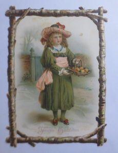 Kaufmannsbilder, Oblaten, Kinder, Mode  14 cm x 10 cm  1900 ♥