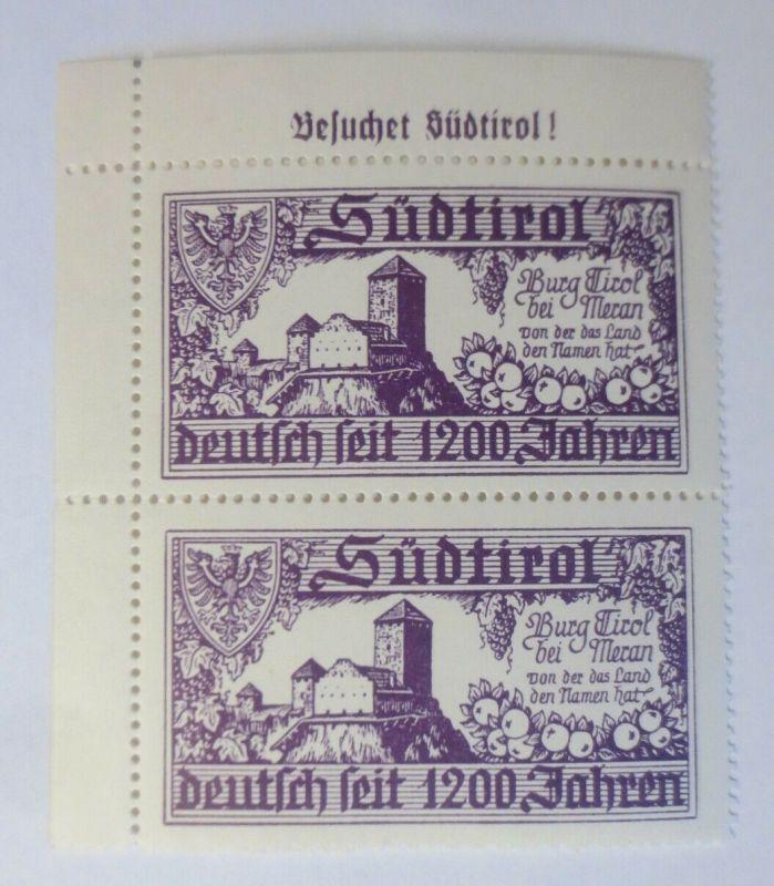 Österreich Italien Südtirol bei Meran  Vignetten 2er Block xx  ♥ (36162)