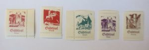 Österreich Italien Südtirol u.a Meran Bozen Vignetten Serie 5 Marken  ♥ (13130)