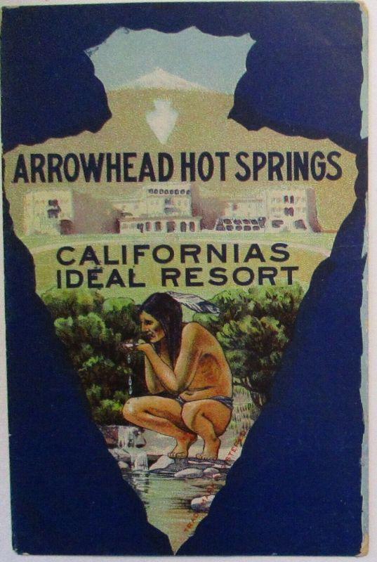 Indianer Indians Arrowhead Hot Springs California Ideal Resort ca. 1910 (60292)