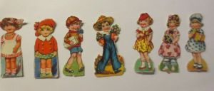 7.Oblaten, Kinder,      1900,  5,5 cm x 3 cm  ♥  (493169