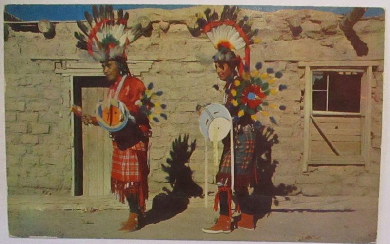 Indianer Indians War Dancers Conchiti Pueblo New Mexico (29193)