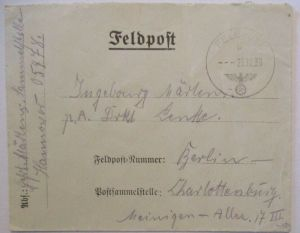 Feldpost WW 2, Feldpostnummer 05478 Brief 1939 nach Berlin (27868)