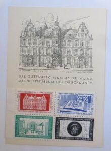Das Gutenberg Museum zu Mainz mit Vignetten 4er Block xx ♥ (49681)
