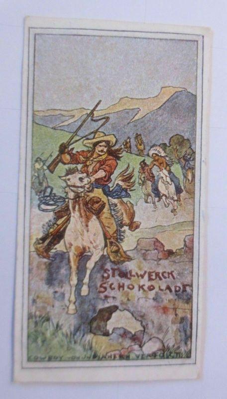 Stollwerck, Gruppe 364, Nr.3,  Album Nr.8, Cowboy von Indianern verfolgt♥