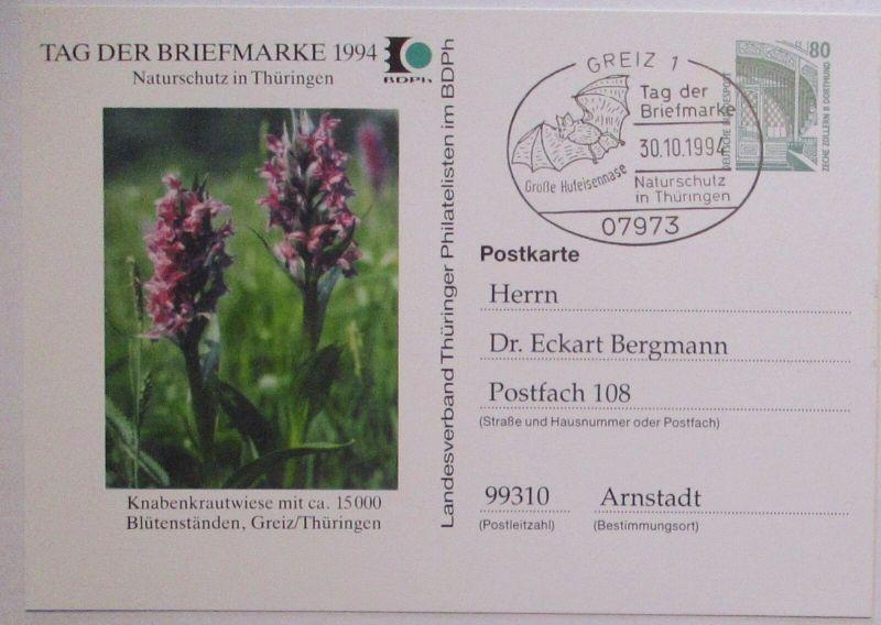 Natur Naturschutz in Greiz Thüringen Knabenkrautwiese 1994 SST Fledermaus (5522)