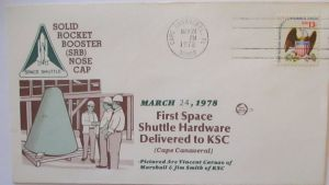 Weltraum USA NASA Space Shuttle First Hardware Delivered to KSC 1978 (45318)