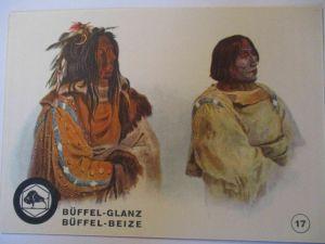 Indianer, Werbung Büffel Glanz Beize, Häuptlinge der Schwarzfuß Indianer