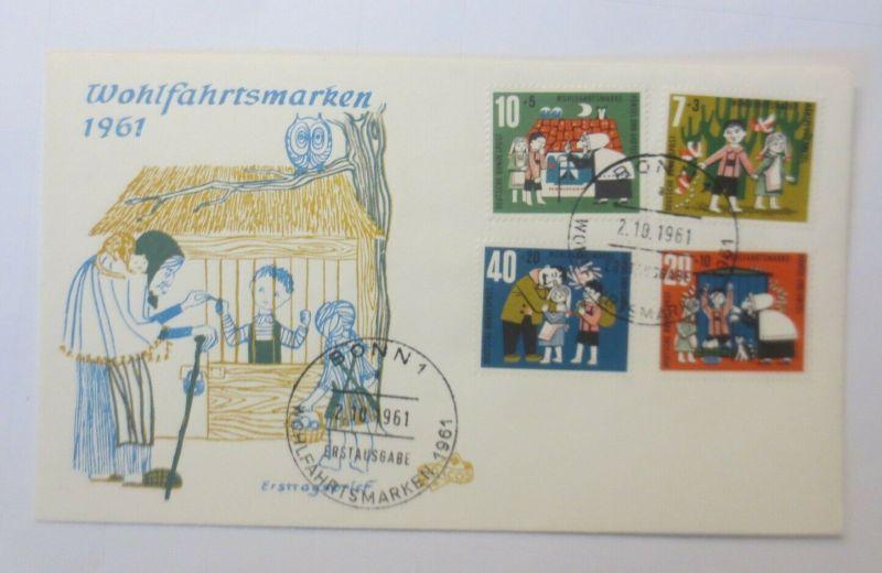 FDC Märchen Hänsel und Gretel der Gebrüder Grimm 1961 ♥ (57835)