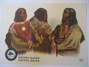 Indianer, Werbung Büffel Glanz Beize, Häuptlinge der Blut und Piekann
