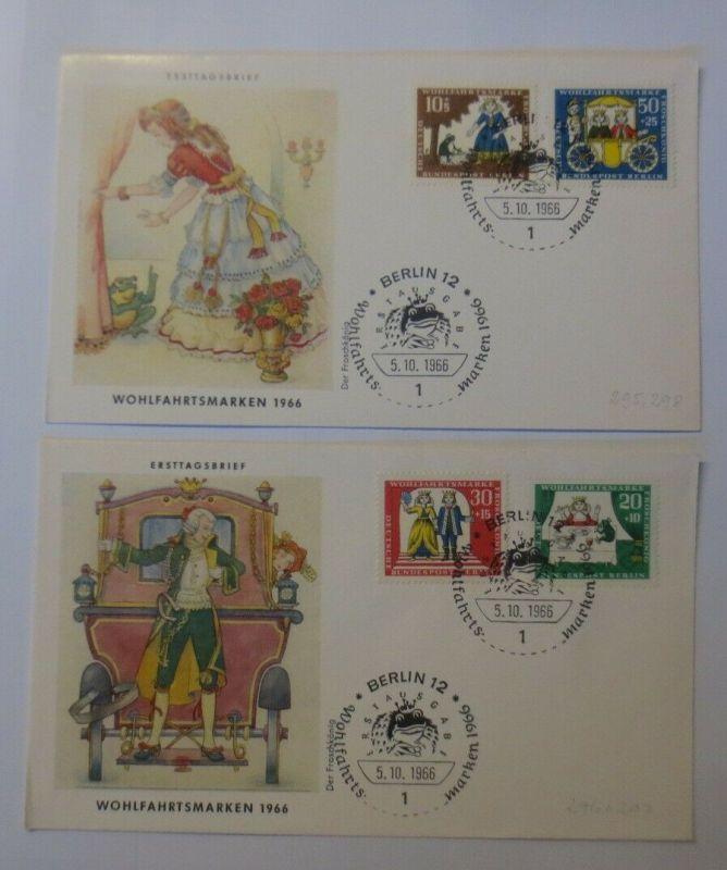 2. FDC Märchen Der Froschkönig 1966 ♥ (57833)