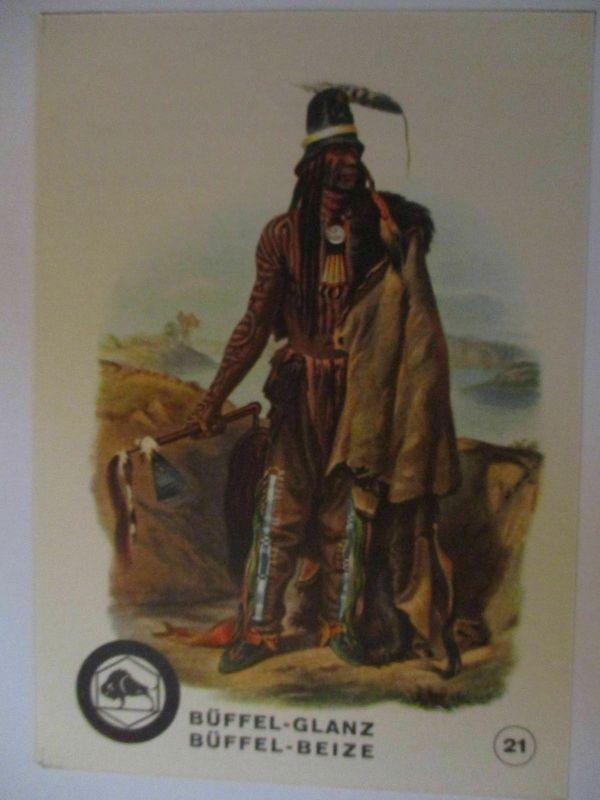 Indianer, Werbung Büffel Glanz Beize, Häuptling der Mönnitarris