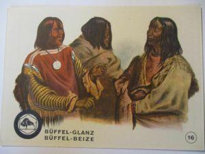 Indianer, Werbung Büffel Glanz Beize, Häuptling der Blut Indianer