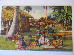 Indianer, Seminolen Familie in Florida