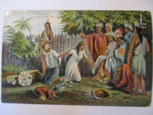 Indianer, Pocahontas und John Smith, ca. 1910