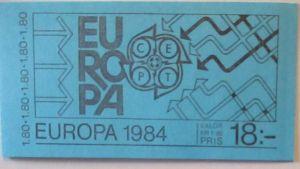 Schweden Markenheftchen Europa Cept 1984 postfrisch (19553)