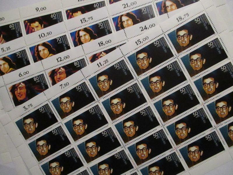 Bund Musiker 1360-1363 kompletter Bogensatz xx Elvis Presley Morrison Lennon