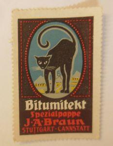 Vignetten Bitumitekt Spezialpappe J.A. Braun Stuttgart-Cannstatt  1914 ♥ (15843)