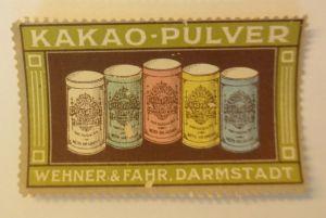 Vignetten, Kakao-Pulver Wehner & Fahr. Darmstadt   ♥ (49240)