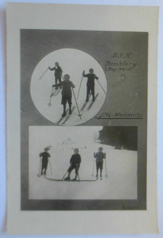 Sport, Ski, DJK Nachwuchs Buchberg Bayern, ca. 1930
