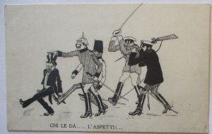 Kaiser Wilhelm und Franz Josef, Zar Russland und Poincare, sign. Ors (40379)