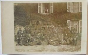 Sanitäter Sanitäts-Komp.627, Fotokarte Mai 1917 (1814)