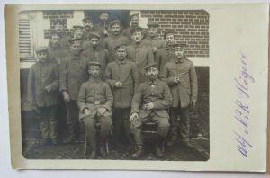 Frankreich Soldaten KB 1. Reserve Division Fotokarte Feldpost 1916 (39580)