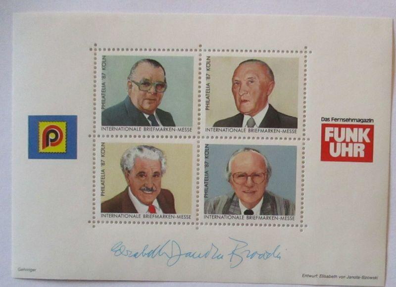 Funkuhr Vignettenblock Köln 1987 xx, Millowitsch Wischnewski ...  (29285)