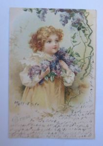 Kinder, Mode, Flieder, 1899  ♥