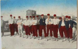 Kriegsgefangene Franzosen in Königsbrück, Feldpost 1915 aus Löbau (5201)