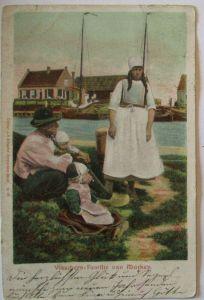 Niederlande, Visschers-Familie van Marken, Fischer 1902 (65067)