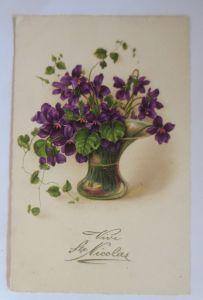 St. Nikolaus, Blumen, Vase,   1930  ♥ (48828)
