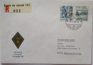Schweiz Feldpost 1989 Infanterie Grenadier (27955)