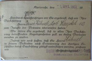 Versicherung D.Reich Magdeburger Versicherungs Ges. 1921 Werbung (58839)