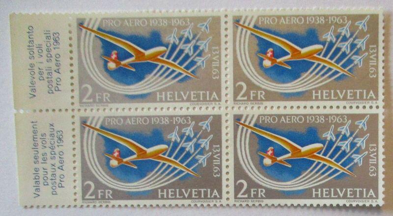Schweiz Nr. 780 Pro Aero 1963 Viererblock postfrisch (46399)