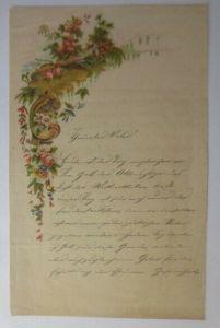 Zierbriefbogen, Briefpapier, Oblate, 21,5 cm x 13,5 cm  Jahr 1900 ♥ (10F)