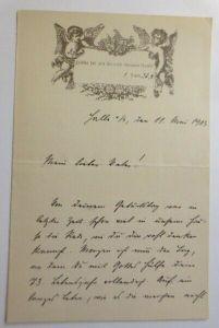Briefpapier, Zierbriefbogen, Geburtstag, 17,5 cm x 11,5 cm,  Jahr 1903 ♥ (13F)