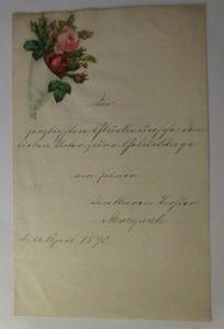 Zierbriefbogen, Briefpapier, Oblaten,   22 cm x 14 cm, Jahr 1890 ♥ (18F)