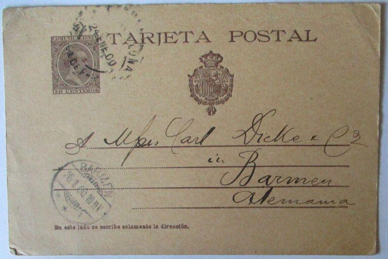 Spanien Ganzsache P 32 von 1897 gestempelt (37379)