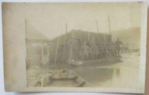 Westfront, Deutsche Soldaten am Kanal, Fotokarte (49557)