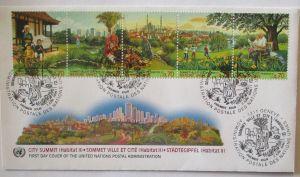 Natur Umwelt Städtegipfel, FDC UNO 1996 (29535)