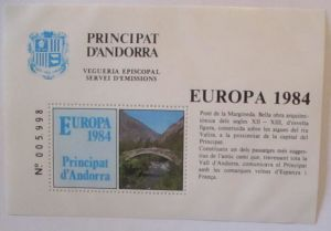 Andorra Europa Vignetten-Block 1984 postfrisch (28438)
