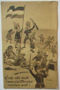 Kinder WW 1, Früh übt sich was ein Meister werden will, Fürth 1915 (11582)
